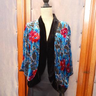 Velvet house coat