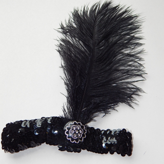 Ostrich Feather head band