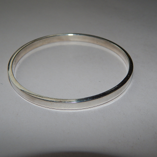 New Sterling Silver Flat edge bangle