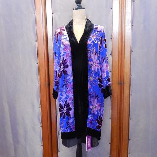 Velvet long Magenta Coat