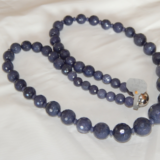 Faceted SAPPHIRE Bead necklace