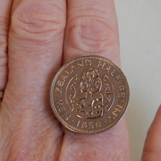 NZ Half Penny RING