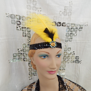Yellow Feather Head Band