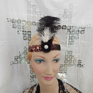 Deco Styled Feather Headband