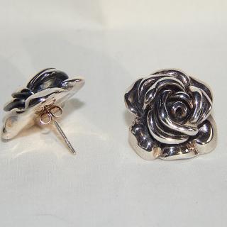 Sterling Silver NEW Rose Earrings