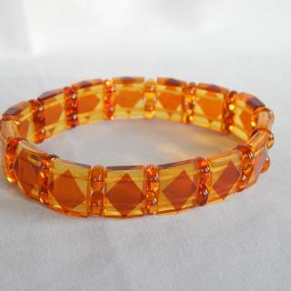 2 tone AMBER Bracelet