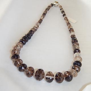Long string of SMOKEY QUARTZ Beads