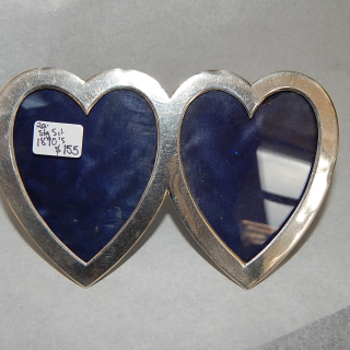 Sterling Silver Double Heart frame 1890's