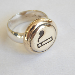 Sterling Silver and Brass Smoking Ring
