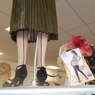 Art Deco Seamed tights