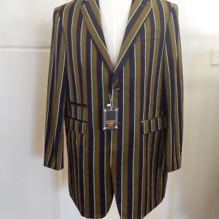 Olive Green and Blue Stripe Large Deco Jackets