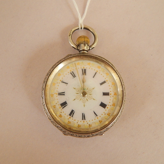 Antique Ladies Sterling Silver Fob Watch