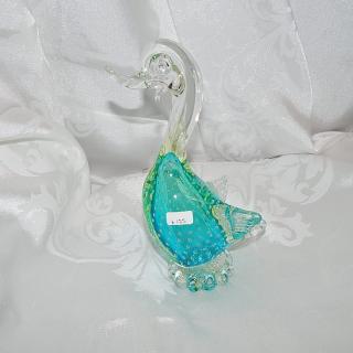 Murano Glass Green Duck