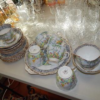 Royal Albert Silver Birch Tea set