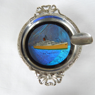 Butterfly Wing Shipping Ashtray S.S.Oronsay