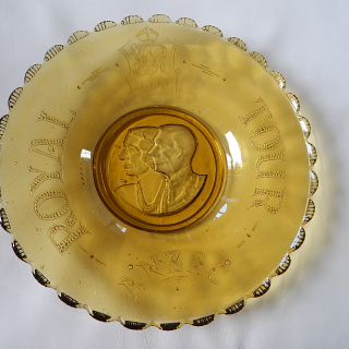 Coronation 1937 Glass Basket