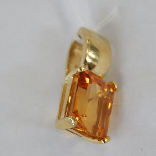 9ct Gold and CITRINE enhancer Pendant