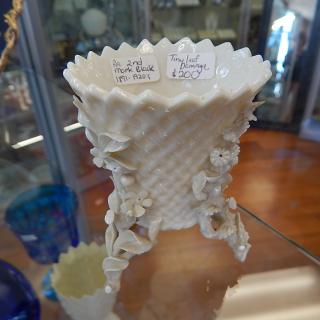 Black Mark Belleek little vase. 1891-1920's