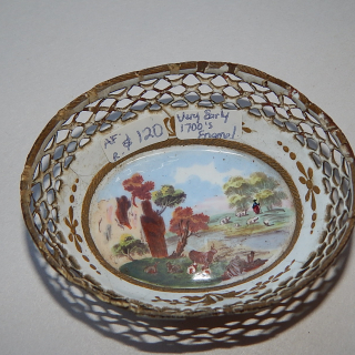 Early 1700's Enamel ware little bowl.