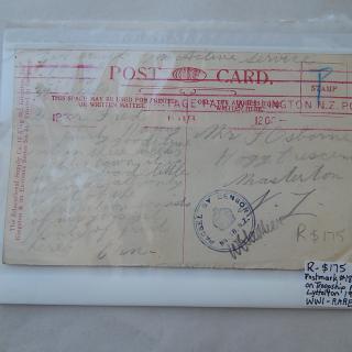 Rare Postmark no18 used on Troopship port Lyttleton 1918