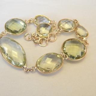 Silver set, Green Garnet Bracelet