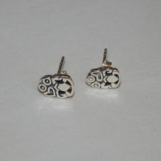 Sterling Silver TIKI stud Earrings