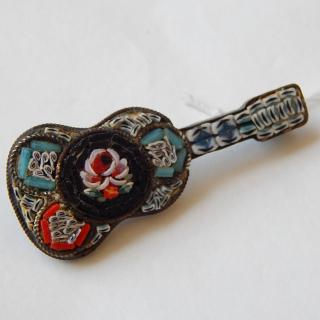 Moasic Vintage Guitar Brooch