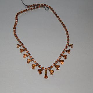 Golden Diamantee 1950's Necklace