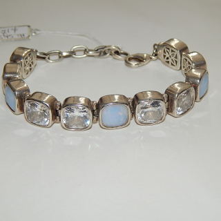 Sterling Silver Crystal set Pre-Loved Bracelet