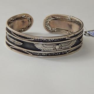 Sterling Silver Egyptian Cuff Bracelet