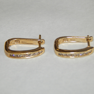9ct Gold and Diamond Earrings