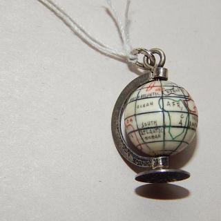 Stg Silver World Globe Charm
