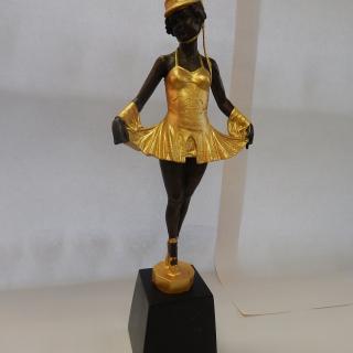 Art Deco Gold painted Bronze figurine