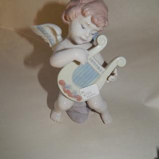 Lladro Angel and Harp
