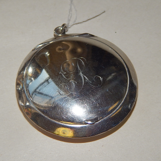 1916 Sterling Silver Powder hanging FOB