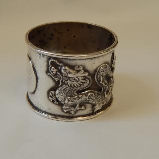 Asian Silver DRAGON Napkin Ring