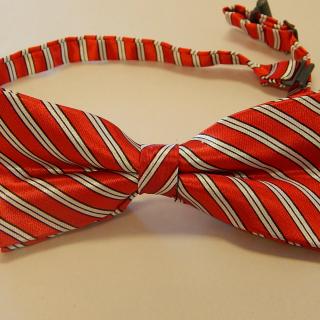 Art Deco red and white stripe tie