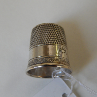 Sterling Silver Thimble. size 10
