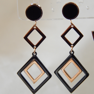 Rose Gold Plated Deco Styled earrings NEW