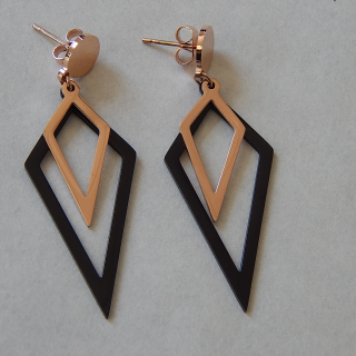NEW double drop Rose Gold earrings
