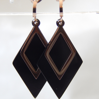 Funky Black and Rose Gold NEW Earrings