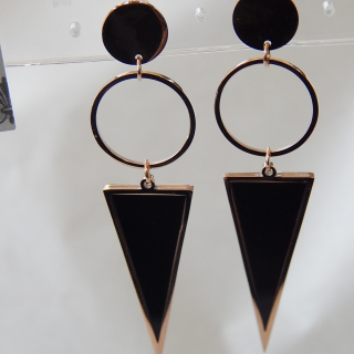 Ring and triangle NEW Earrings