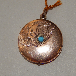9ct Rose Gold and Turquoise LOCKET