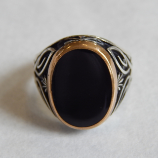 Gents Silver and ONYX NEW Signet Ring