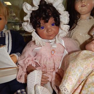Dianna Effner pretty dark skinned Vinyl BABY Doll