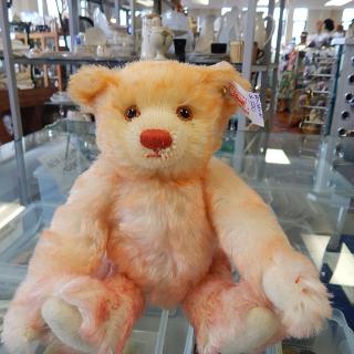 Small Steiff Millennium Teddy Bear in pink and orange