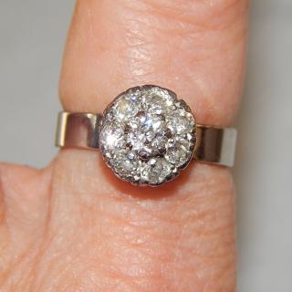 18ct White Gold Diamond Cluster Ring. Valued $4970