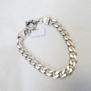 Large Sterling Silver Flat Link Bracelet
