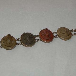 Antique Lava Cameo Bracelet