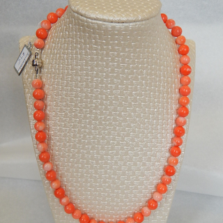 Orange Coral bead necklace